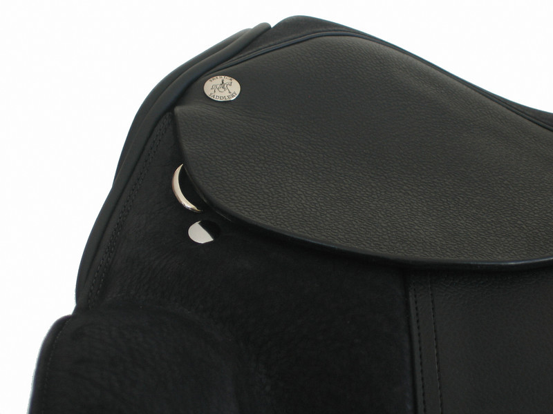 Patrick Keane Dressage Saddle (250) - Seat Detail - Shown with Nubuck seat and pads