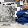 """Leominster resident Patrick LaPointe talks about his new book called """"Buliding Leominster one Road, One Pipe and One Park at a Time"""" on Tuesday, Oct. 29, 2019. SENTINEL & ENTERPRISE/JOHN LOVE"""