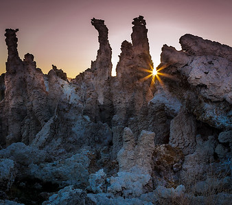 Sunrise at Mono Lake tufa