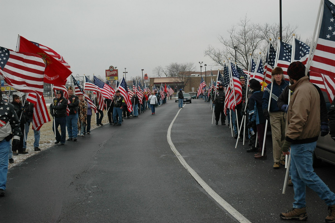 The funeral is attended by over 200 Patriot Guard Riders.
