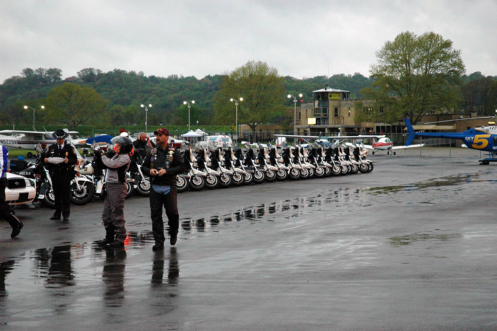 The group included the Cincinnati Motor Officers.