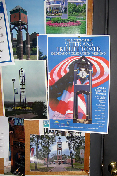 This poster shows what the finished tower will look like.