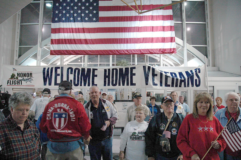Hundreds of family members, well wishers, military guests, and friends are waiting for their return.