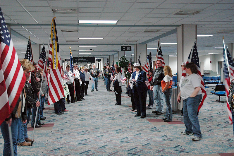 The Veterans were met at the gate by the PGR and the Blue Star Mothers.<br /> <br /> Photos by CJ
