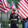 United States Marine meeting with the Patriot Guard