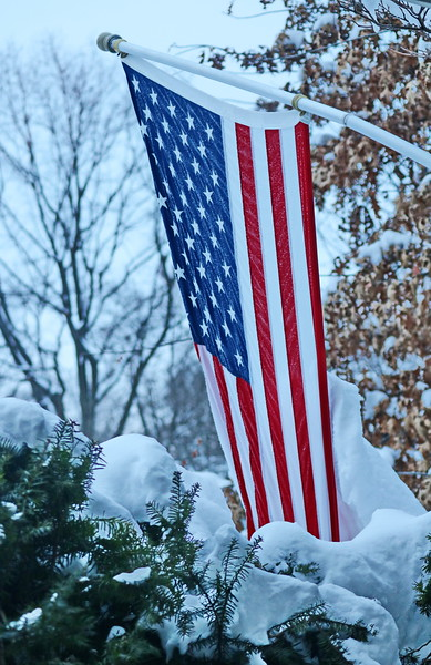 Amreican Flag in Winter