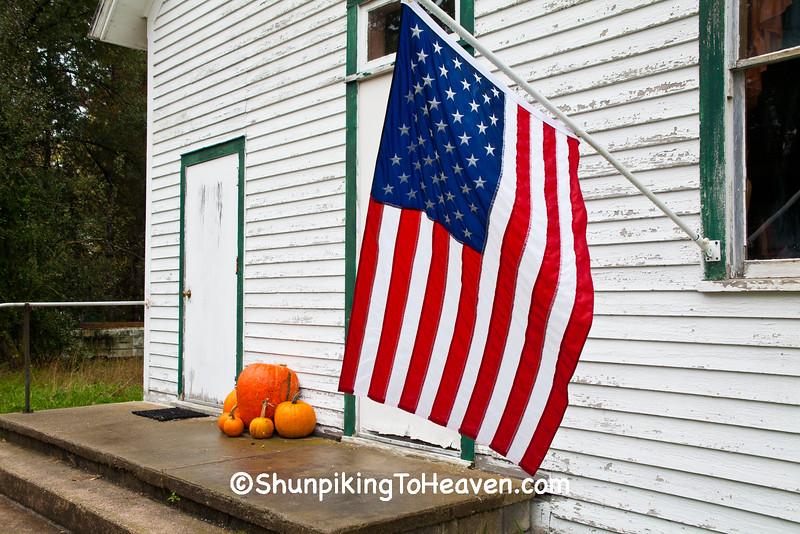 Patriotic Town Hall, Waupaca County, Wisconsin