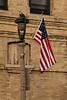 U.S. Flag on Lamp Post, Columbia County, Wisconsin