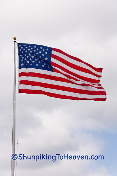 American Flag Blowing in the Wind, Sauk County, Wisconsin