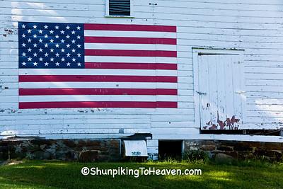 Patriotic Barn, Jackson County, Wisconsin