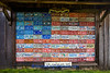 American Flag Mosaic Made of License Plates, Jasper County, Missouri  (Note: Best Viewed from a Distance)