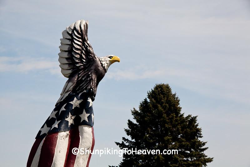 Patriotic Eagle Sculpture, Fairmount Cemetery, Ogle County, Illinois