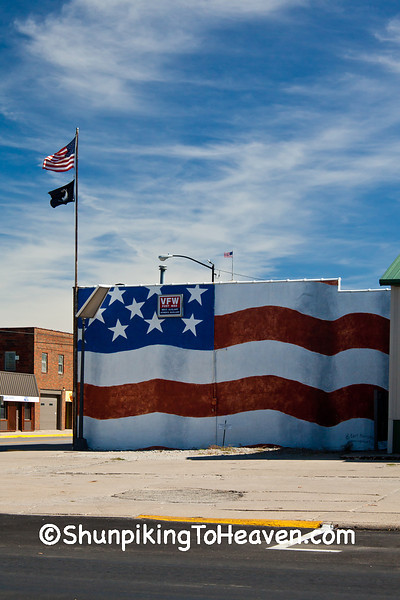 U.S. Flag Mural, VFW Post 1655, Newton, Iowa