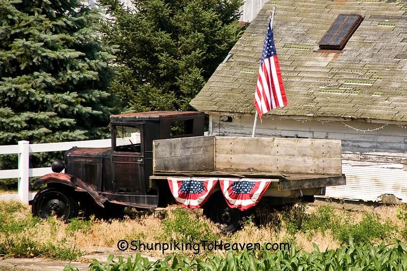 Patriotic Flatbed Truck, Cedar County, Iowa