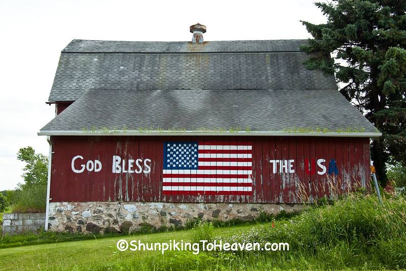 Patriotic Barn, Washington County, Wisconsin