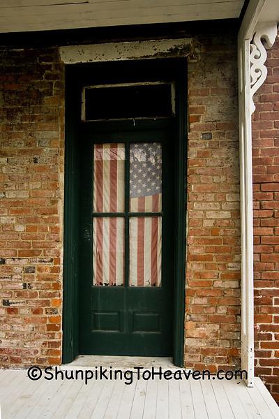American Flag on Door, Belmont County, Ohio