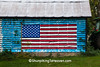 Patriotic Corn Crib, Richland County, Wisconsin