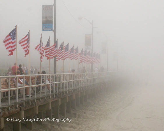 Long Beach Boardwalk, morning of July 4, 2011