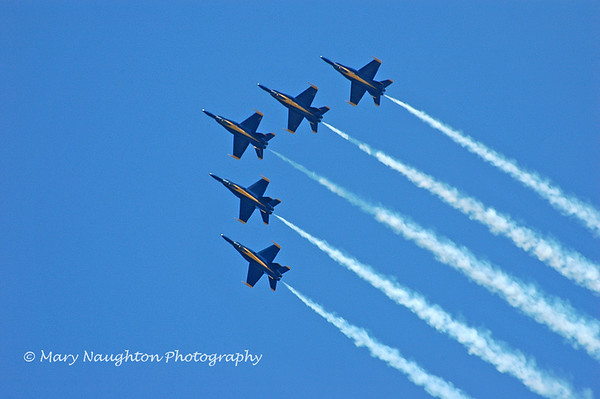 Blue Angels V formation, Annapolis, MD May, 2007