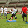 Photo Scott LaPrade - Pats Jon Williams drills a future running back