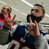 Fred Reynolds, of Lunenburg, sports a beard as he arrives at North Station for the Patriots Super Bowl parade on Tuesday, February 7, 2017. SENTINEL & ENTERPRISE / Ashley Green