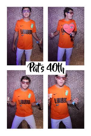Pat's 40th, 13th Oct 2018