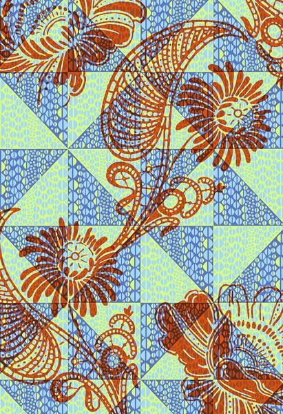 modern diamonds 3 orange blue