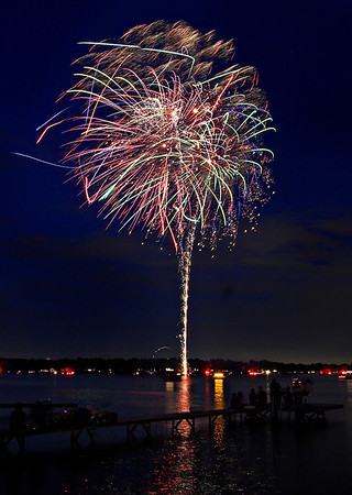 Fireworks Orchard Lake Michigan #3