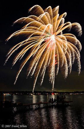 Fireworks Orchard Lake Michigan #12