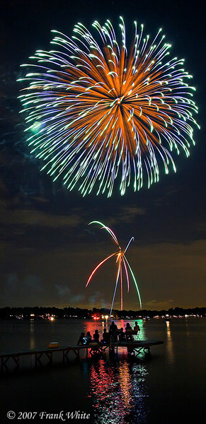Fireworks Orchard Lake Michigan #13