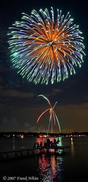 Fireworks Orchard Lake Michigan #13