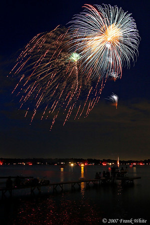 Fireworks Orchard Lake Michigan #4