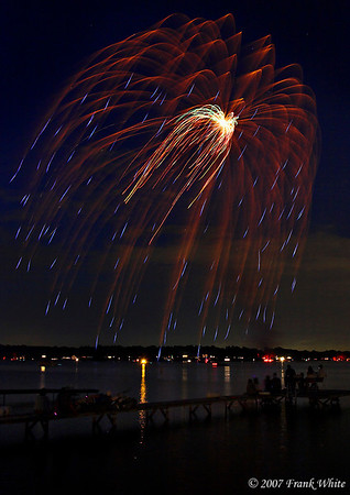 Fireworks Orchard Lake Michigan #6