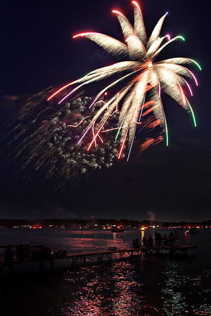 Fireworks Orchard Lake Michigan #2