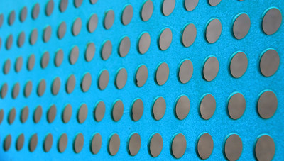 Turquoise Abstract Background with Gray Holes or knobs?