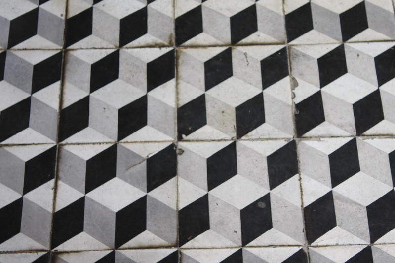 Floor of Kien an Chung pagoda, Sa Dec, Vietnam, view angle #2