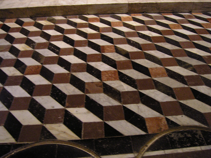Floor tiles in the 13th century Duomo of Siena, Italy