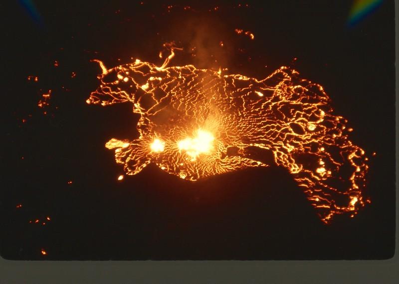 Halema'uma'u crater, Kilauea eruption; February 1968.