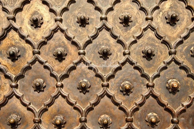 Door pattern at Jami Masjid Mosque, Delhi, India