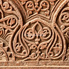 Wall pattern at Purana Qil, the Old Fort in Delhi, India