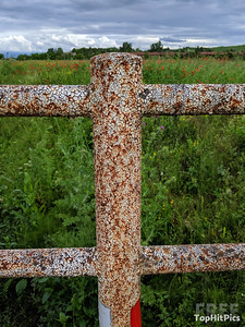 A Patterned Fence in Cuna, Tuscany, Italy