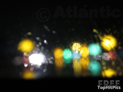 Rainy Patterns Through A Car Window, Lynchburg, Virginia