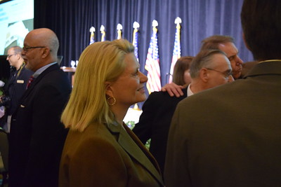 Michigan Secretary of State Ruth Johnson at Oakland County Executive L. Brooks Patterson's 2017 State of the County Address in Pontiac on Wednesday, Feb. 8, 2017. (Mark Cavitt/The Oakland Press)