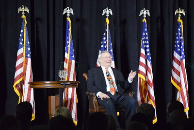 Oakland County Executive L. Brooks Patterson delivering his 2017 State of the County Address on Wednesday, Feb. 8, 2017, in Pontiac. (Mark Cavitt/The Oakland Press)