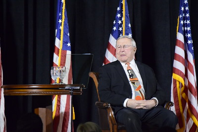 Oakland County Executive L. Brooks Patterson delivers his 2017 State of the County Address on Wednesday, Feb. 8, 2017, in Pontiac.  (Mark Cavitt/The Oakland Press)