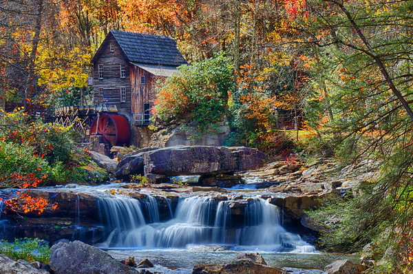 Glade Creek Grist Mill Horizontal