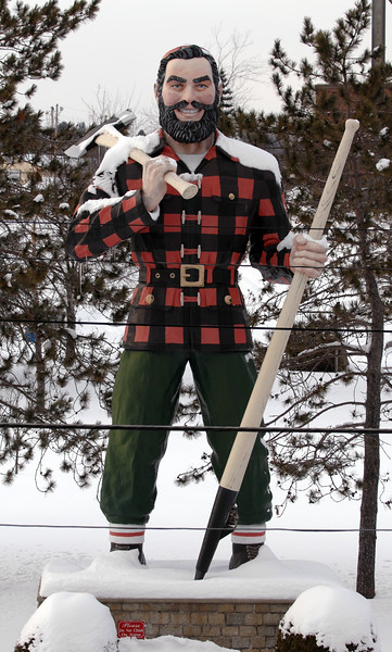 Image of Paul Bunyan statue made on Thursday, jan 22, 2009.<br /> (Bangor Daily News/Kevin Bennett)