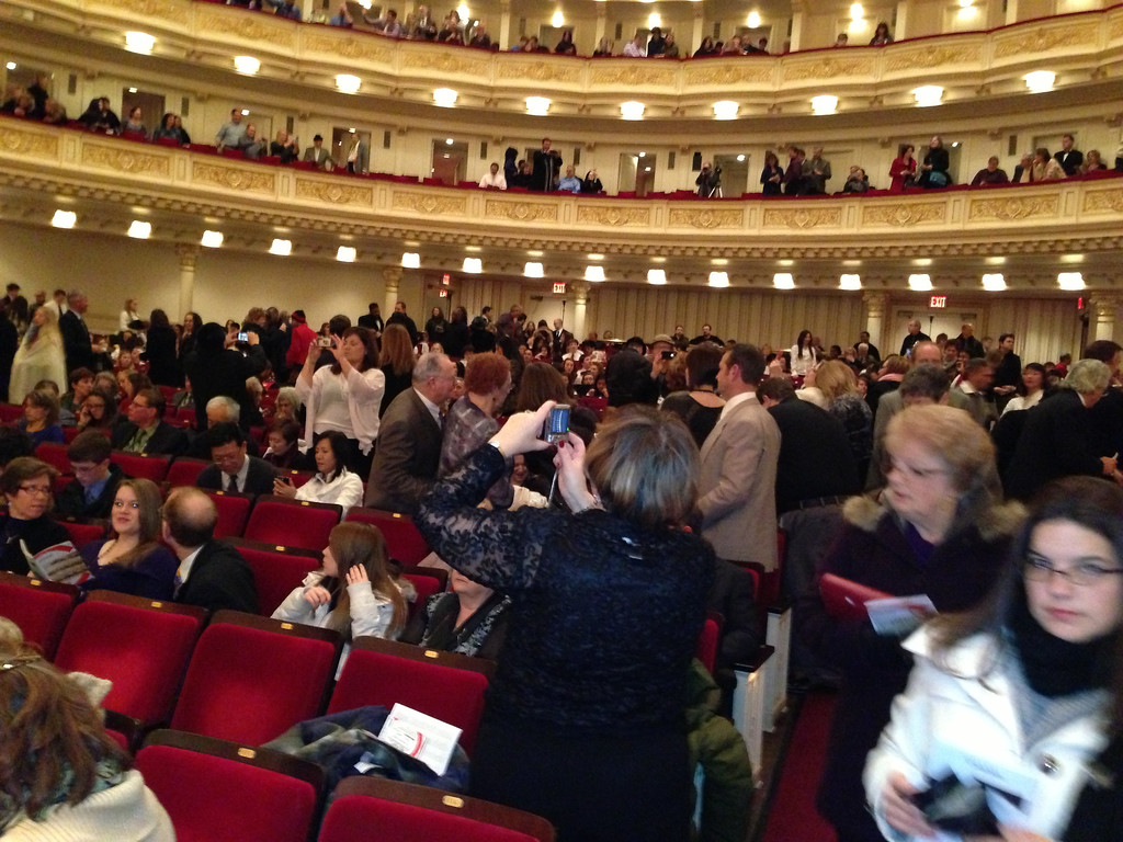 Carnegie Hall audience before the show