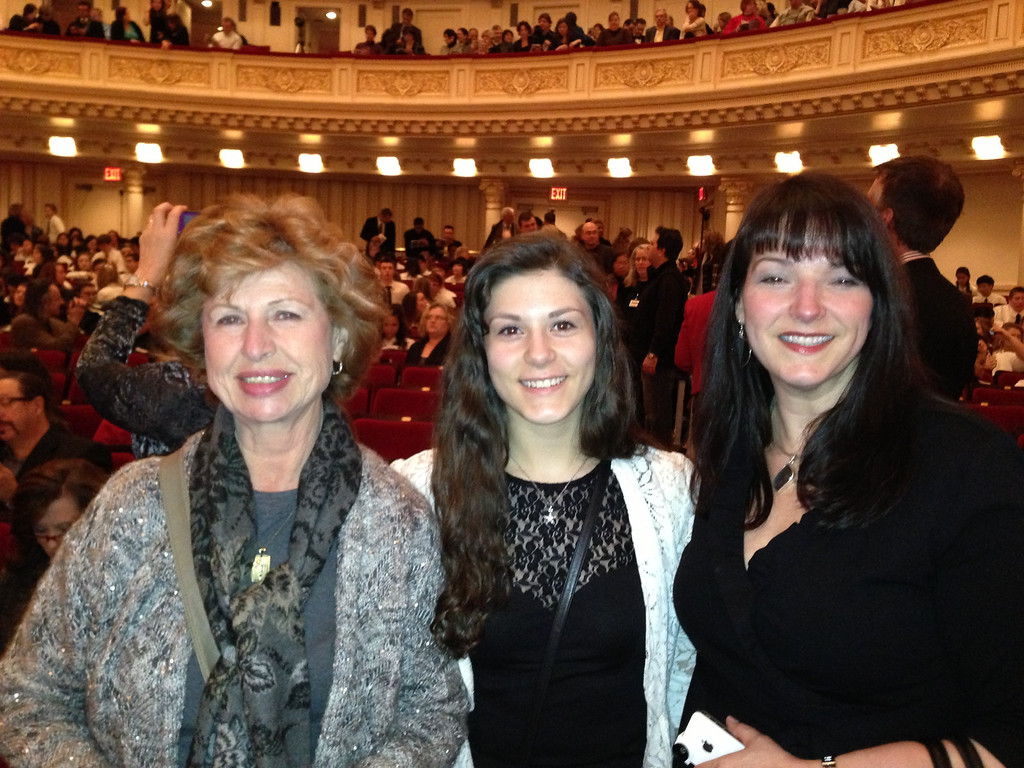 Carol and Rachel Gilmore who traveled from Philadelphia to see Paul's performance