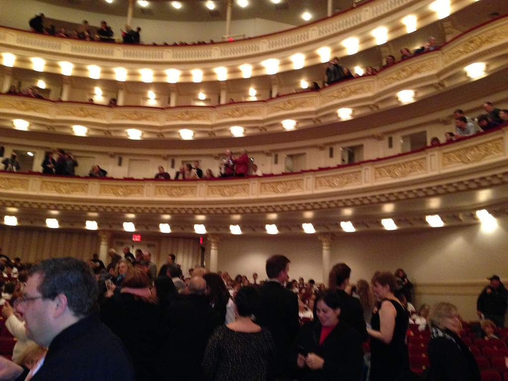 Audience at Carnegie before the beginning of the Performances